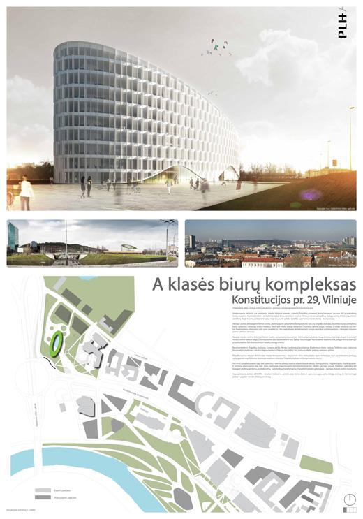Kvartalo Konstitucijos pr. 29, Vilniuje, konkursas
